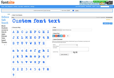 Fonts Site Script Preview