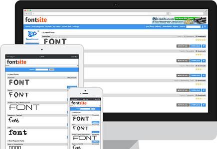 Fonts Site Script Responsive