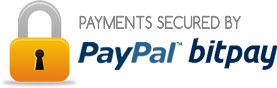 Payments secured by PayPal and Stripe