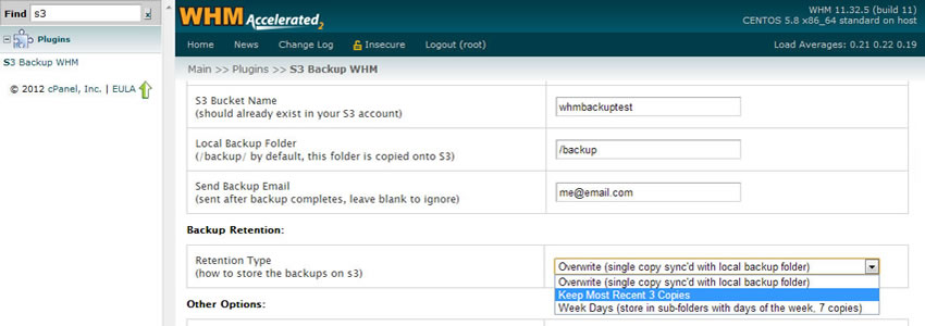 Amazon S3 Options