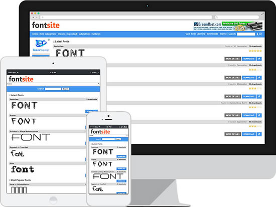 Click to view Fonts Site Script screenshots
