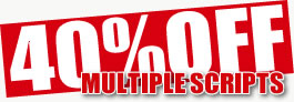 40% off multiple script purchases