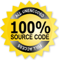 100% source code on all php scripts